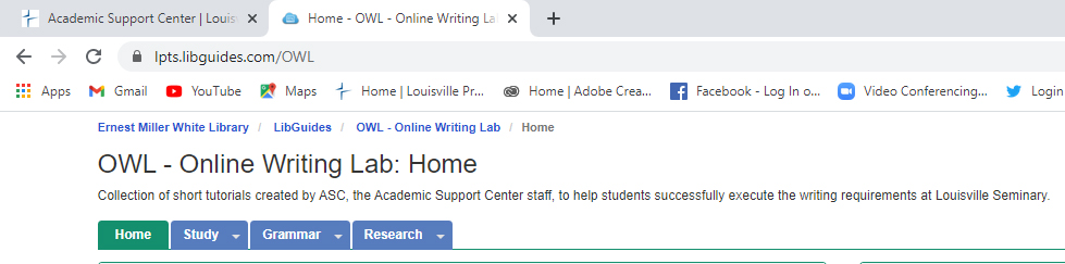 OWL Online Writing Lab Home Page